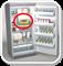 Вариант размещения термоиндикатора Фридж-тэг 2 в холодильнике с вакцинами